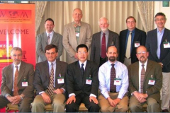 Conference Steering Committee - Back row (left to right): Mark Rainforth, Ken Ludema, Dave Rigney, John Truhan, Ian Hutchings. Front row (left to right): Ken Budinski, Jeff Hawk, Aiguo Wang, Steve Shaffer, Peter Blau