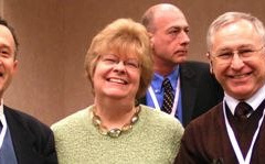 Left to right: Norm Gitis, Evelyn Blau, Steve Franklin (rear), Lev Rappoport