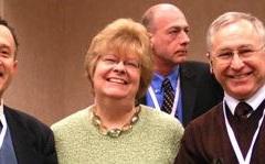 Left to right: Norm Gitis, Evelyn Blau, Steve Franklin (rear), Lev Rappoport