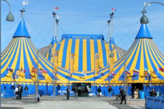 Montreal's waterfront hosts the Cirque du Soleil