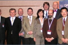 The WOM 2007 Steering Committee - From left to right: Ian Hutchings, Ken Budinski, Peter Filip, Phillip Shipway (back row), Mark Rainforth, Christina Lim, Alfonse Fischer (back row), Steve Shaffer, Ken Ludema (back row), Aiguo Wang  Jeff Hawk (back row), Peter Blau