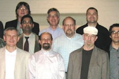 The WOM 2011 Conference Steering Committee - Top row, left to right: Ken Ludema, Alfonse Fischer, Ian Hutchings, Cris Schwartz, J. Daniel De Mello; Middle row, left to right: Somuri Prasad,Sriram Sundararajan, Peter Blau; Bottom row, left to right: Mark Rainforth, Peter Filip, Steve Shaffer (General Chairman of WOM 2009), Ken Budinski, Marcello Papini, Phillip Shipway