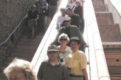 The impressive Hoover Dam tour was a conference option. The whole dam thing was seen inside and out.
