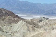 Death Valley, California, is (85.5 m (282 feet) below sea level, and was visited by adventurous WOM 2009 conference attendees. - Zabriskie Point overlook