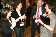 Wear journal editor Ian Hutchings with Elsevier staff Gill Heaton, Louise Morris, and Jessica Bradley