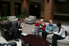 Plenary speaker Gregory Sawyer with WOM founder Ken Ludema, his wife Johanna, and Cinta Lorenzo Martin