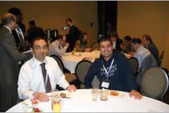 Delegates enjoy the speaker's breakfast
