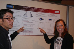 Marcello Papini discusses poster with Jenny Angseryd