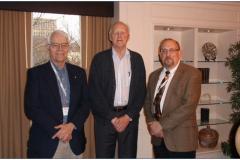 Past WOM Chairs William Ruff, Ken Ludema, and Peter Blau