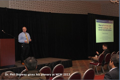 Dr. Phil Shipway gives his plenary at WOM 2013