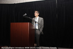 Marcello Papini introduces WOM 2015's venue: Toronto, Canada