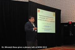 Dr. Bikramjit Basu gives a plenary talk at WOM 2013