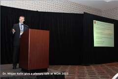 Dr. Mitjan Kalin give a plenary talk at WOM 2013