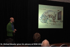 Dr. Michael Moseler gives his plenary at WOM 2013