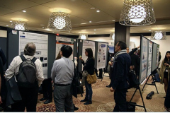 Delegates enjoy the poster session