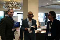 2015 WOM steering committee members Tom Scharg, Prasad Somuri, and Marcello Papini during coffee break