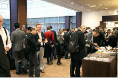 Delegates enjoying a coffee break between sessions